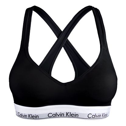 Dámská sportovní podprsenka Calvin Klein modern cotton lift černá XS