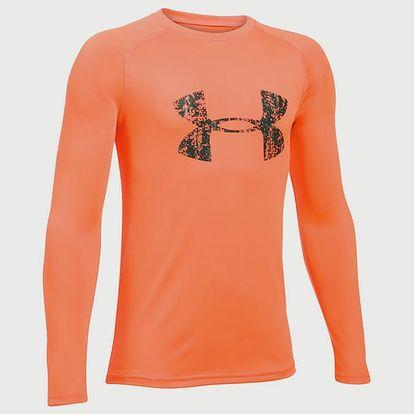 Tričko Under Armour Big Logo LS T Oranžová