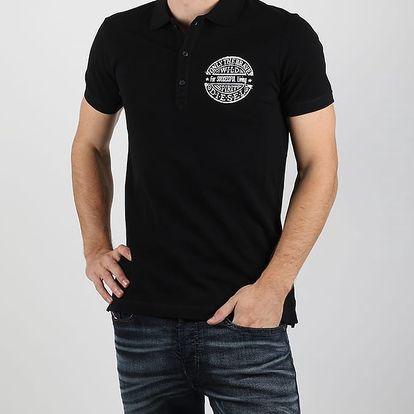 Tričko Diesel Snt-Polow Camicia Černá
