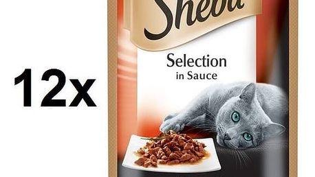 Kapsička Sheba SELECTION in Sauce s Hovězím 12 x 85 g
