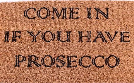 La finesse Kokosová rohožka Come in, hnědá barva
