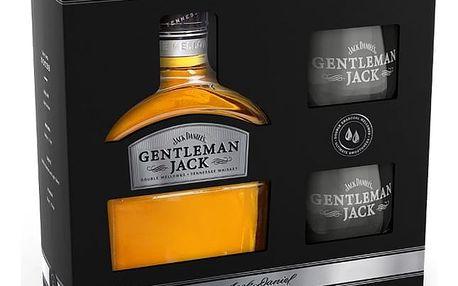 Whisky Jack Daniels Gentleman Jack 0,7l 40% + 2x sklo dárkové balení