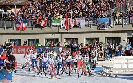 POSLEDNÍ 2 MÍSTA: Biatlonový superVÍKEND v Rakousku (9.-10.12.): Doprava, ubytování, vstupenky na 4 závody!