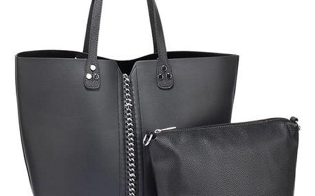 SET: Dámská černá kabelka Sarah 548