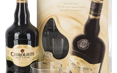 Carolans 0,7l 17%+2xSklo dárkové balení