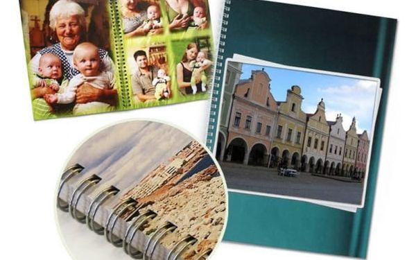 Kroužková fotokniha: formát A4, 12-92 stran