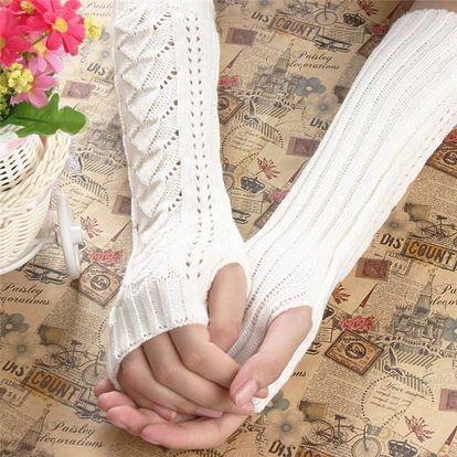 Dámské pletené rukavičky na dlaně a předloktí - 5 barev