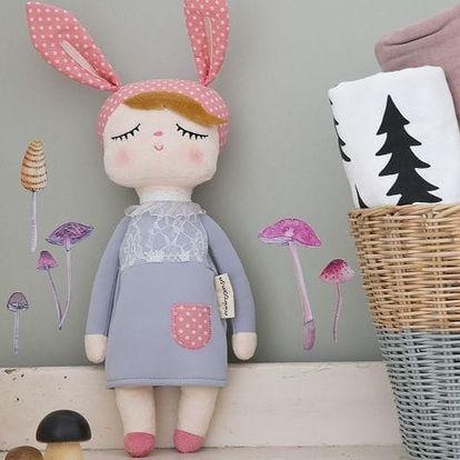 miniroom Králičí panenka Lille Kanin Grey, růžová barva, šedá barva, textil