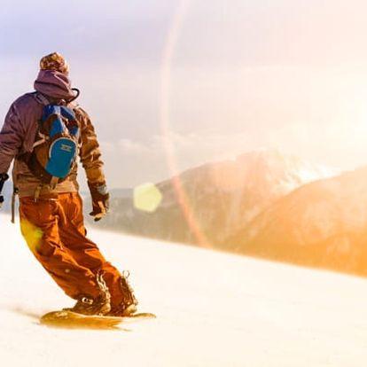 Beskydy u ski areálu s polopenzí a saunou