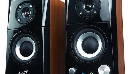 Reproduktory Genius SP-HF 500A 2.0 (31730905100) černá/imitace dřeva