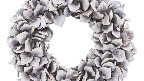 House Doctor Vánoční věnec Cone, šedá barva, bílá barva, hnědá barva, stříbrná barva, dřevo