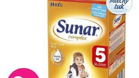 8x SUNAR Complex 5 (600 g) - kojenecké mléko