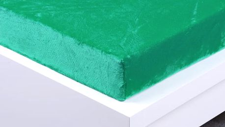 XPOSE ® Prostěradlo mikroflanel Exclusive dvojlůžko - zelenkavá 180x200 cm