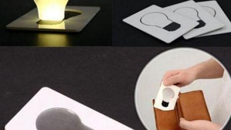 Přenosná lampička do peněženky Bulb