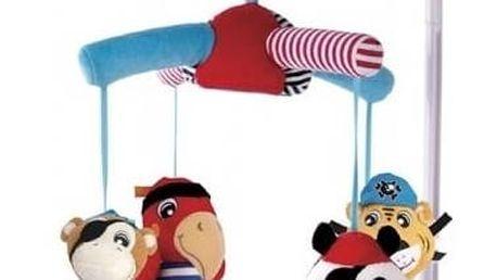Kolotoč nad postýlku Canpol babies plyšový Pirates s 12 melodiemi Čepička Santa Claus Canpol babies (zdarma) + Doprava zdarma