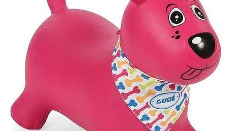 Skákací zvířátko Ludi pejsek růžové + Doprava zdarma