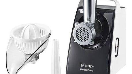 Mlýnek na maso Bosch CompactPower MFW3630A šedý/bílý + Doprava zdarma