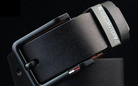 Pánský elegantní pásek v koženém designu