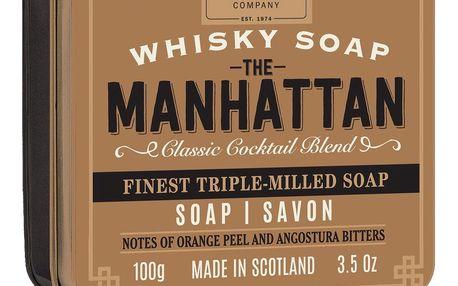 SCOTTISH FINE SOAPS Mýdlo v plechové krabičce Manhattan Cocktail, hnědá barva, kov