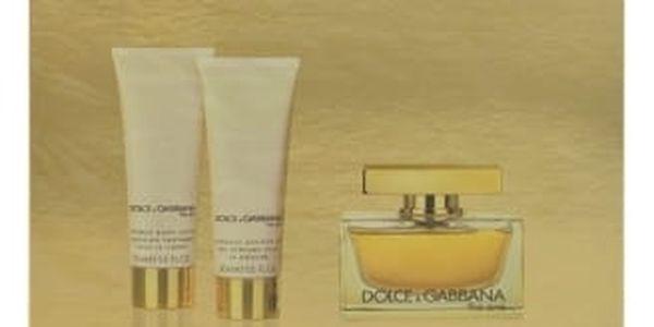 Dolce&Gabbana The One dárková kazeta pro ženy parfémovaná voda 75 ml + tělové mléko 50 ml + sprchový gel 50 ml