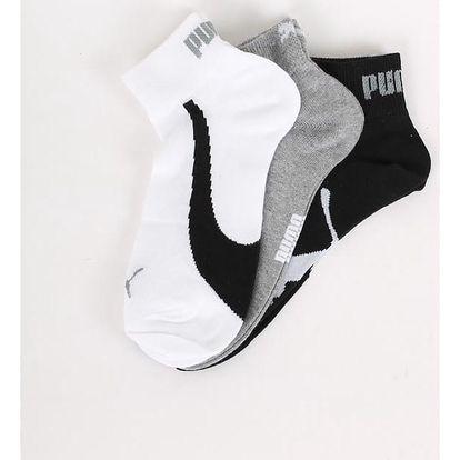 Ponožky Puma Lifestyle Quarters 3 Pack white Barevná