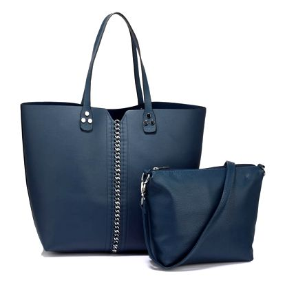 SET: Dámská námořnicky modrá kabelka Sarah 548