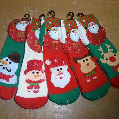 Dámské/dětské nebo pánské ponožky s vánočním motivem