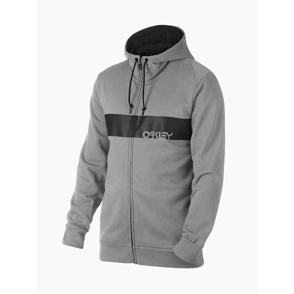 Mikina Oakley Crossbar Mark LI FZ Hoodie Athletic Heather Grey Šedá