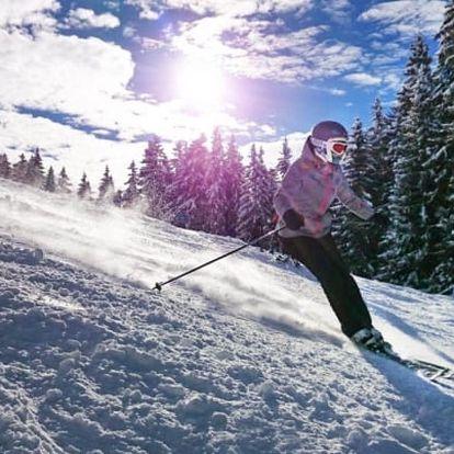 Krkonoše u ski areálů s polopenzí