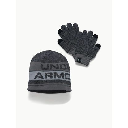 Čepice a rukavice Under Armour Boys Beanie Glove Combo 2.0 Černá