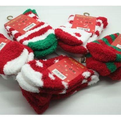 Dámské vánoční měkoučké ponožky