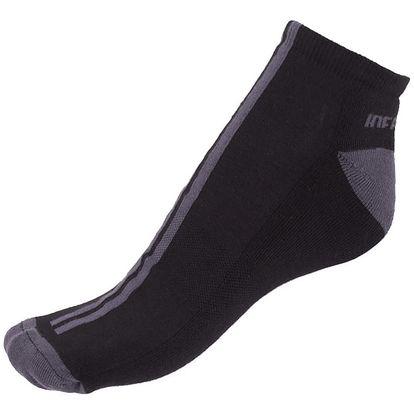 Ponožky Infantia Softline černé s šedou linkou