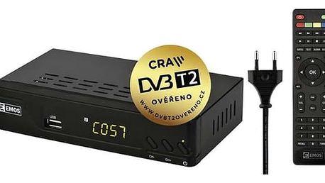 DVB-T přijímač EMOS EM170 HD černý
