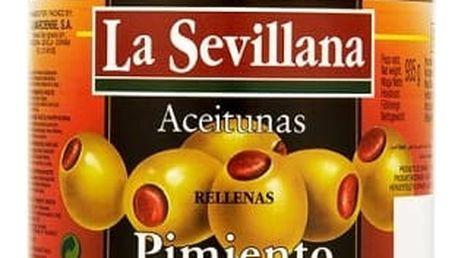 Olivy Zelené s Papričkou 935ml Sklo La Sevillana