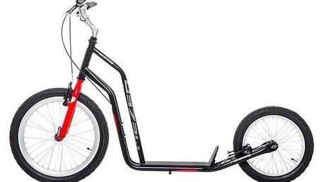 Koloběžka Yedoo Basic Mezeq V-brake černá/červená + Reflexní sada 2 SportTeam (pásek, přívěsek, samolepky) - zelené v hodnotě 58 Kč + Doprava zdarma