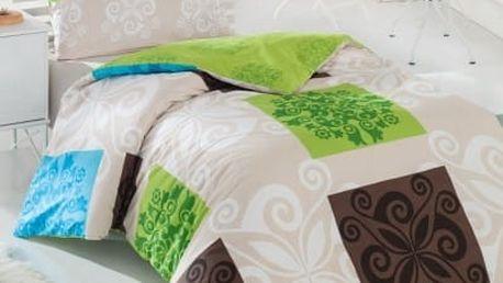 Night in Colors Francouzské bavlněné povlečení SEDEF - zelená 200X220, 70x90