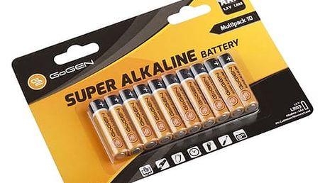 Baterie alkalická GoGEN AAA, LR03, blistr 10 ks (GOGR03ALKALINE10) černá/oranžová