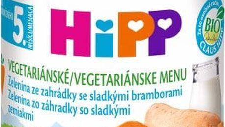 EXPIRACE 31.03.2018: HIPP BIO Jemná zahradní zelenina se sladkými bramborami 190 g