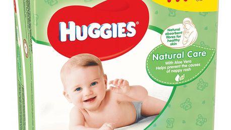 4x HUGGIES® Quatro Pack Natural Care 56 ks - vlhčené ubrousky