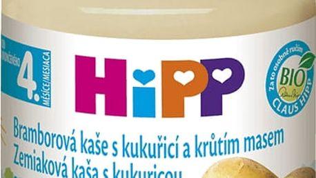HIPP BIO Bramborové pyré s kukuřicí a krůtím masem (125 g) - maso-zeleninový příkrm