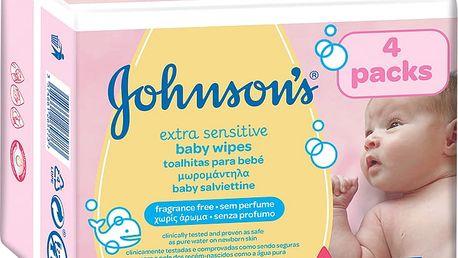 JOHNSON'S BABY Extra Sensitive 224 ks - čistící ubrousky