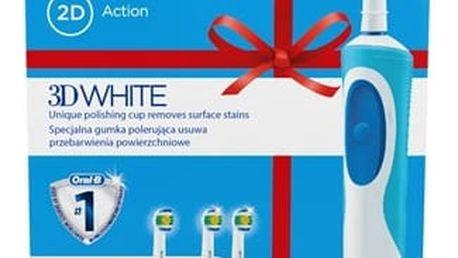 Zubní kartáček Oral-B Vitality 3DWhite D12.513 + EB 18-2 3D White Luxe