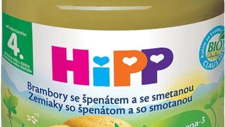 HIPP BIO Brambory se špenátem a se smetanou (125 g) - zeleninový příkrm