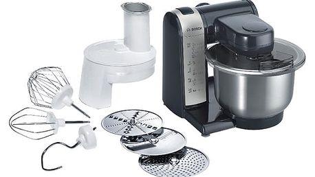 Kuchyňský robot Bosch MUM48A1 černý/stříbrný + DOPRAVA ZDARMA