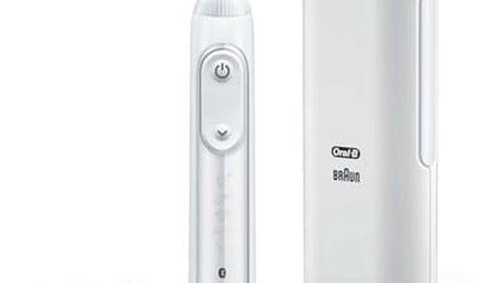 Zubní kartáček Oral-B Genius PRO 9000 white bílý + dárek Ústní sprcha Oral-B Oral-B® ProfessionalCare™ Oxyjet MD20 bílá/modrá v hodnotě 2 199 Kč + DOPRAVA ZDARMA