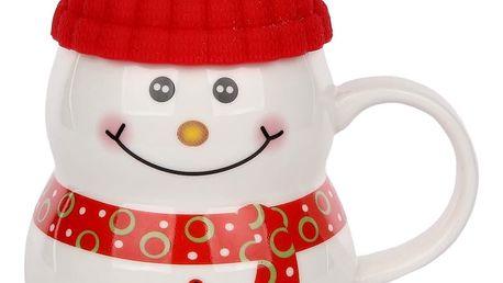 Porcelánový hrnek Snowman 330 ml, sněhulák