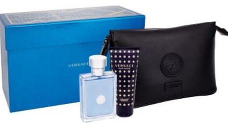 Versace Pour Homme dárková kazeta pro muže toaletní voda 100 ml + sprchový gel 100 ml + kosmetická taška