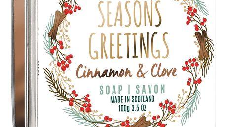 SCOTTISH FINE SOAPS Vánoční mýdlo v krabičce Seasons Greetings, měděná barva, kov