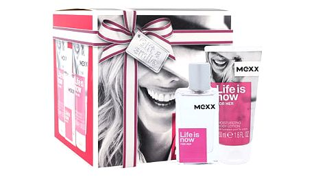 Mexx Life Is Now For Her EDT dárková sada W - EDT 30 ml + tělové mléko 2x50 ml