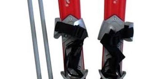 Sjezdové lyže Acra Plastkon dětské plastové červené